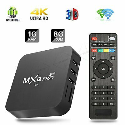MXQ Pro 4K HD Wi-Fi Android Quad Core 1GB+8GB Smart TV Box 3D Home Media Movies