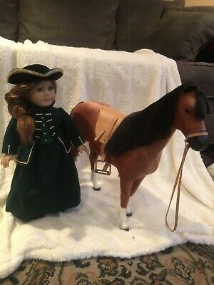 american girl doll felicity riding outfit and horse. Excellent condition