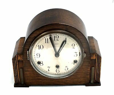 Vintage Art Deco PERIVALE Mechanical MANTLE CLOCK With Westminster Chimes - O03