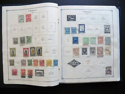 Paraguay Collection On Scott & Minkus Pages 1881-1997 In Binder 600+ Stamps