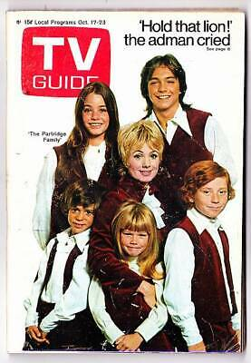 TV GUIDE October 17, 1970 - The Partridge Family, Burt Reynolds & The Mod Squad