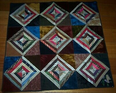 Antique Quilt For Dolls Bed, Cradle Or Pram - Circa 1900 Or Earlier
