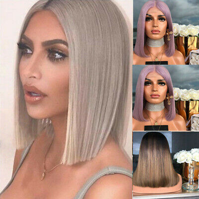 UK Women Ladies Real Natural Short Straight Hair Wigs BOB Style Cosplay Full Wig