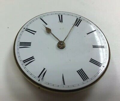 Superb Quality Fusee Antique Pocket Watch Movement Fully Working Circa 1860