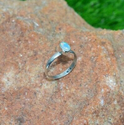 925 Sterling Silver Natural Ethiopian Opal Gemstone Jewelry Ring