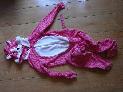 girls pink leopard print one piece age 9-10 years from tu at sainsburys