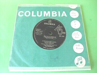 "Cliff Richard And The Shadows - I Could Easily Fall(In Love With You)  7"" 64 Vg"