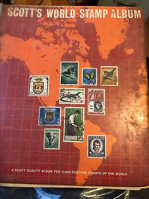 cancelled stamp album Lots Of Stamps Foreign And US
