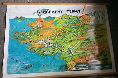1990 School Map Geographical Terms