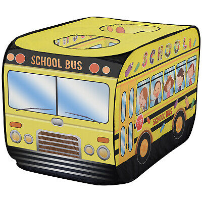Kids School Bus Play Tent Car House Portable & Foldable Pop-up Yellow