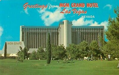 c1970 Greetings From The MGM Grand Hotel, Las Vegas, Nevada Postcard