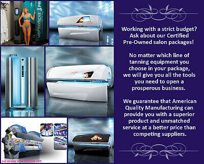 Tanning Bed Salon Equipment Package Refurbished Ergoline Beds with Spray Booth