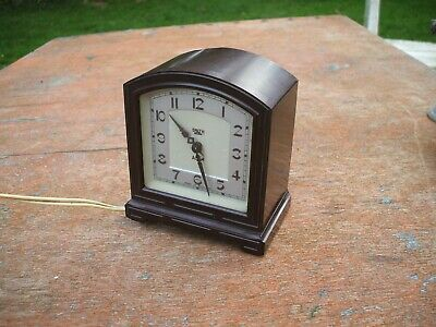 Vintage Smith Sectric Bakelite Art Deco Electric Alarm Clock