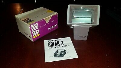 Photax Solar 3 Colour Slide Viewer, original box and instructions. Working order