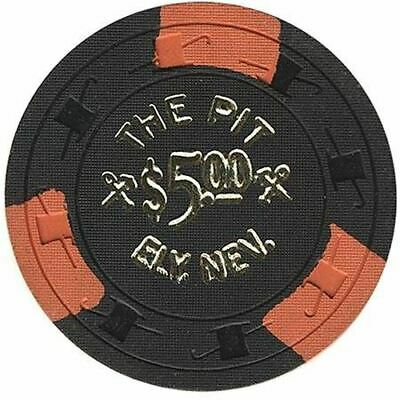 The Pit Casino Ely NV $5 Chip 1950s