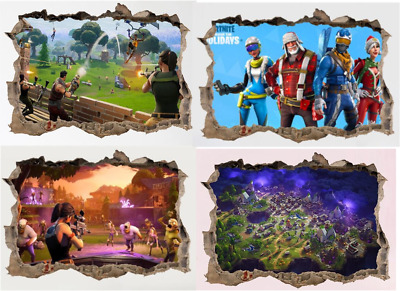 Fornite Cartoon Game 3D Wall Stickers for Kids room Mural Poster Home Decoration
