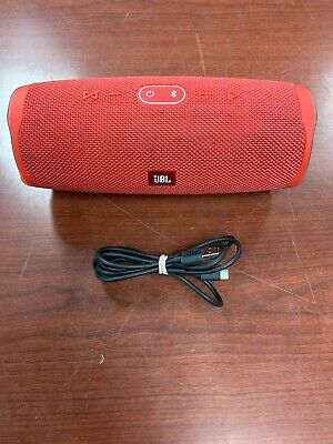JBL Charge 4 Portable Waterproof Wireless Bluetooth Speaker - Red Body