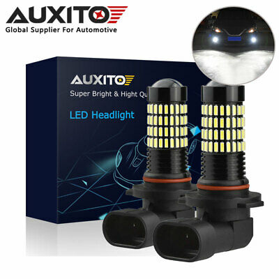 2X Auxito 9145 H10 Led Projector Drl Fog Driving Light Bulb 6000K 102 Smd Globe