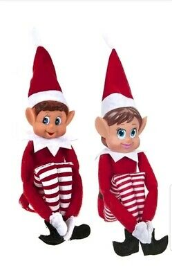 12 Inch Red Naughty Elf Elves Behavin' Badly On The Shelf Boy and Girls X 1 Each