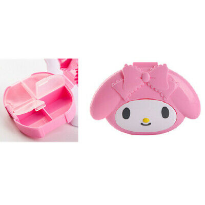 My Melody pill box drug case kit 4 pots travel portable Christmas gift pink