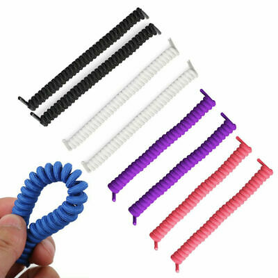 Elastic Curly Shoelaces Stay Fastened No Tie Shoe Laces Kids Disability Useful