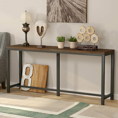 70 Inch Extra Long Solid Wood Console Table Hallway