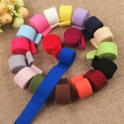 20mm Fold Over Elastic Spandex Satin Band Ties Lace Dress Sewing Trim