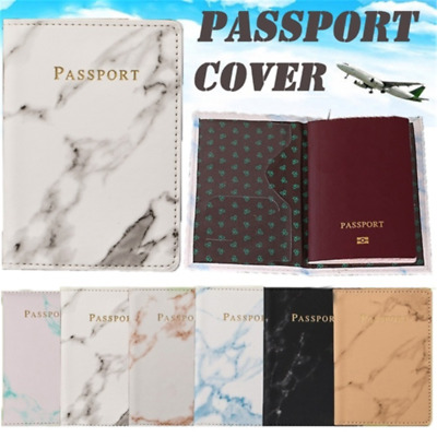 Slim Leather Travel Passport Wallet Holder RFID Blocking ID Card Case Cover NEW