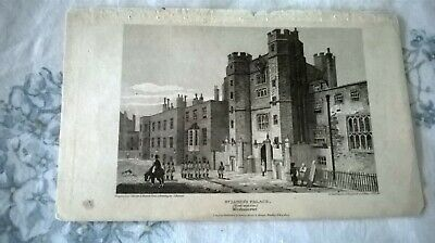 Antique Etching :  St James's Palace Westminster London