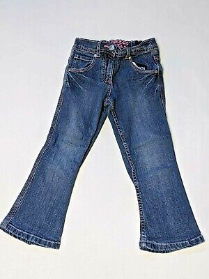 Blue Zoo girls party jeans age 4 pink hear detail girls clothing (w163)