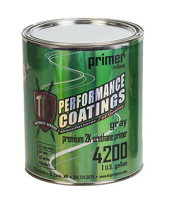 2K High Build Urethane Primer w Activator Gray 1 gal