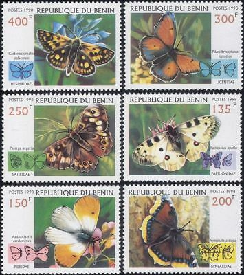 Benin 1998 Butterflies/Insects/Nature/Conservation/Butterfly 6v set (b1768)