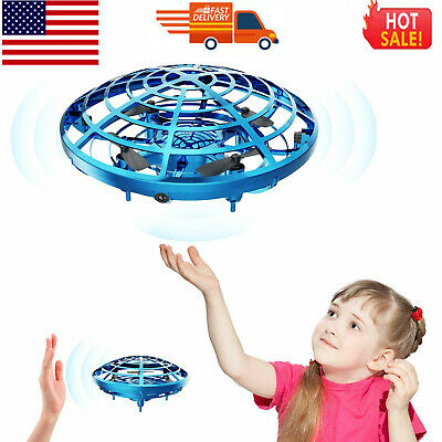 Mini Drone Quad Induction Levitation UFO Hand Operated Helicopter for Kids I9R7