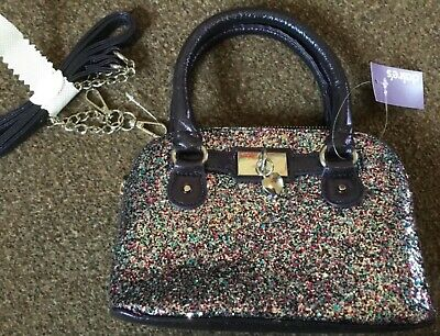Girls Claires Sparkly Bag BNWT