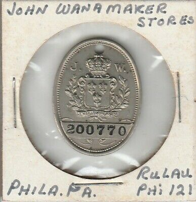Philadelphia John Wanamaker Department Store Charge Tag Charge Coin Nice