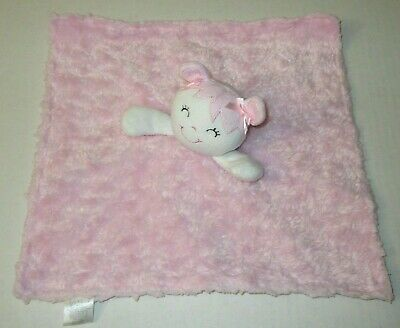 Kyle & Deena Doll Pink Swirl Plush Baby Security Blanket Satin Back Lovey Toy