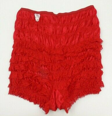 Vintage Malco Modes Square Dance Pettipants Bloomers RED Medium