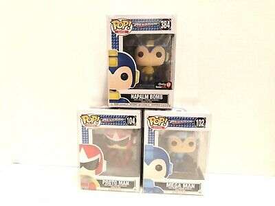 Mega Man Funko POP Games Action Figure #104 Proto Man 4in
