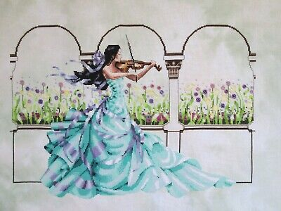 "Mirabilia ""Garden Prelude"" Completed Unframed Cross Stitch"