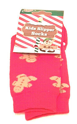 Kids Warm and Cosy Gingerbread Slippers Socks  Uk 6 - 8.5  New Part Tagged
