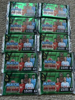 Topps Match Attax Trading Card Game Season 2018/2019 10 X Packs New And Sealed