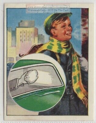 Our Warm Damp Breath On Cold Day Visible   Vintage Ad Trade Card