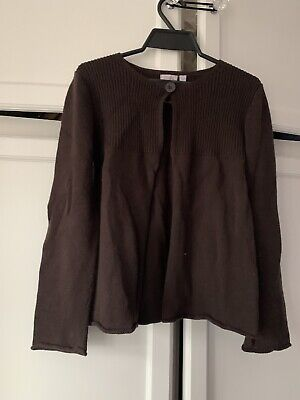 Monsoon Girls Brown Cotton Cardigan Age 8-10 Great Condition