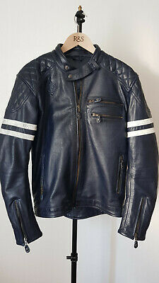RIDE & SONS MAGNIFICIENT Navy Blue - Moto jacket - Blouson moto - MINT