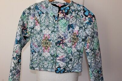 Ted Baker Girls Lovely Quilted Jacket Butterfly & Flower Print Age 12 - 13