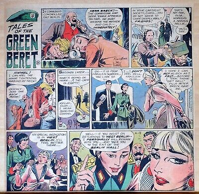 Tales of the Green Beret by Joe Kubert - color Sunday comic page, April 9, 1967