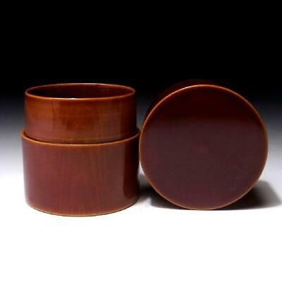BE24: Japanese Wooden Tea Caddy of Shunkei Lacquer ware, Tea ceremony, NATSUME