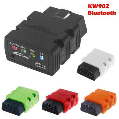 KONNWEI KW902 ELM327 Bluetooth OBDII OBD2 Car Diagnostic Scanner for Android