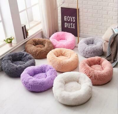 Warm Fluffy Luxury Shag Pet Bed Dog Puppy Kitten Fur Donut  Cushion Mat pet bed