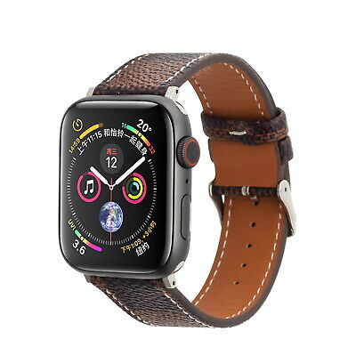 Luxury Leather Strap iWatch Band For Apple Watch Series 5/4/3/2/1 38/40/42/44MM